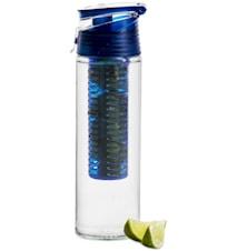 Fresh flaske med frugtstempel låsbar blå