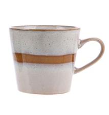 70's Keramik Cappuccino Krus Hvid