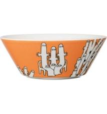 Mumi skål 15 cm Hattifnattarne orange