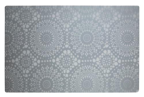 Dækkeserviet - m. mønster - PP - Hvid - Transparent - L 44,0cm - B 28,5cm - Stk.