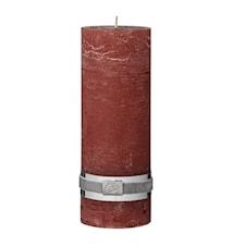 Blockljus Rustic 20 cm Röd