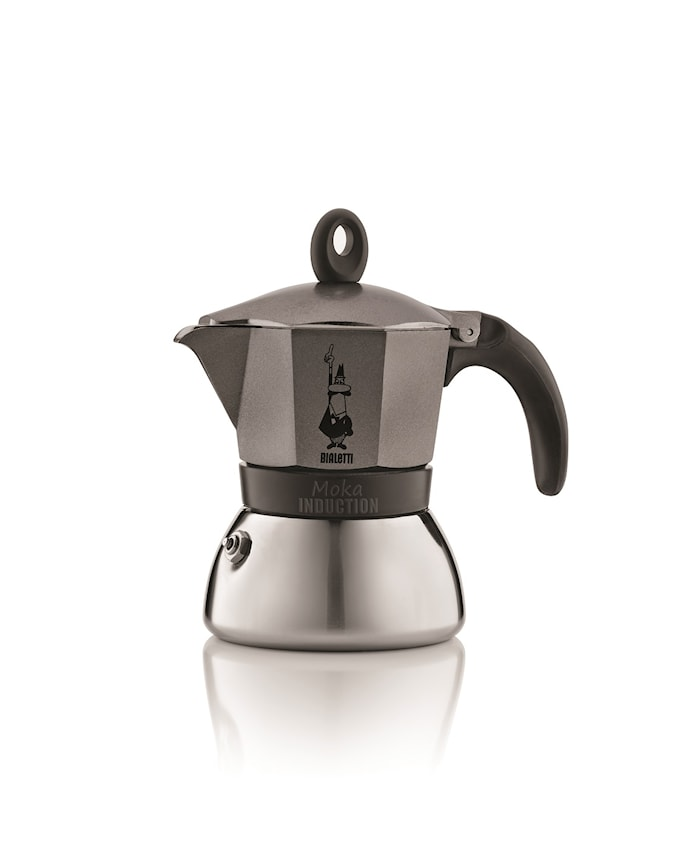 Bryggare Moka Induction 3 koppar Anthracite