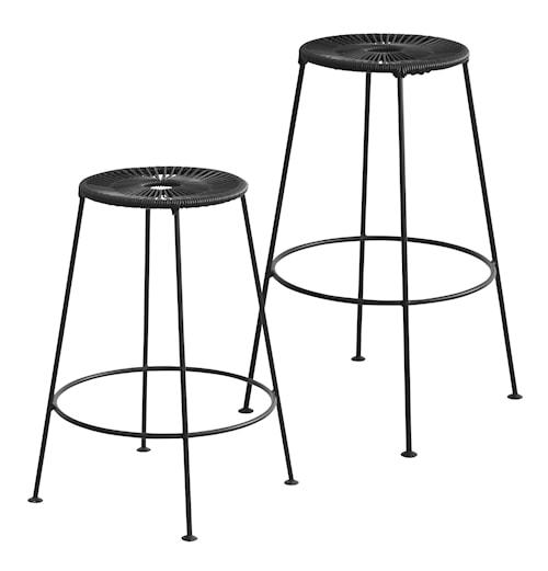 Acapulco bar stool H75 Petroliumblå