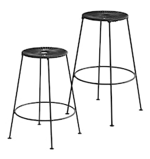 Acapulco bar stool H75 – Petroliumblå