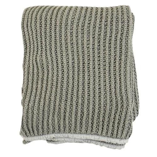 Pure knitted Pläd 130x170 - Grå