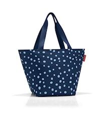 Shoppingväska M Blå med prickar 15 L