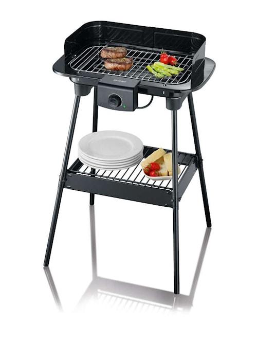 El-grill med Stativ og Kjøkkenbenk 2300W