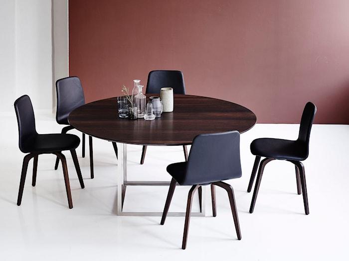 Jewel table Walnut Stainless Steel Ø150