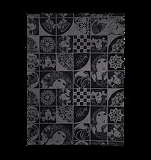 Viskestykke, sort/grå, 50x70 cm