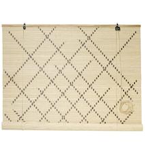 Rullgardin bambu 120x160 cm - Natur
