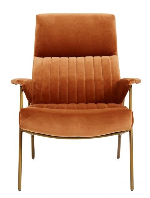 IBEX chair, velvet, terracotta col.