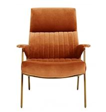 IBEX stol, velvet, terracotta col.