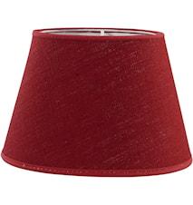 Oval Lampeskjerm Lin Rød 20 cm