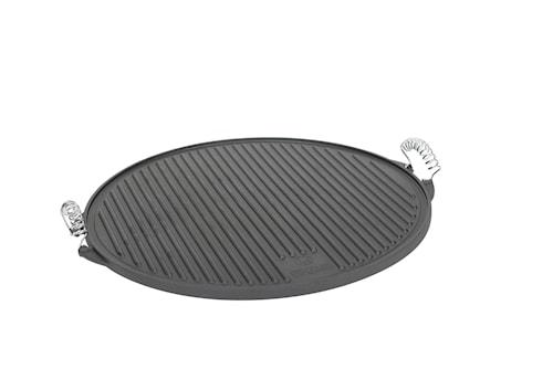 Grillplatta Vändbar med Räfflor 47 cm Gjutjärn