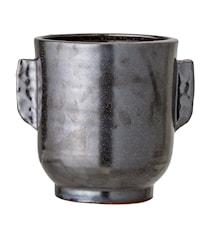 Flowerpot, Black, Terracotta