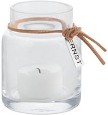 Telyslykt glass d5 h8 cm