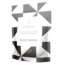 Doftljus refill - Black Wood 300g