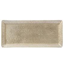 Bricka Noelia 40x18 cm Guld