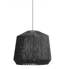 Jute lamp shade, black