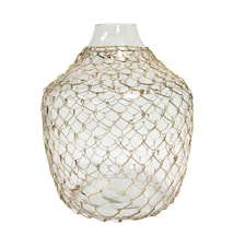 Glasvas Wicker 30x30x32,5cm