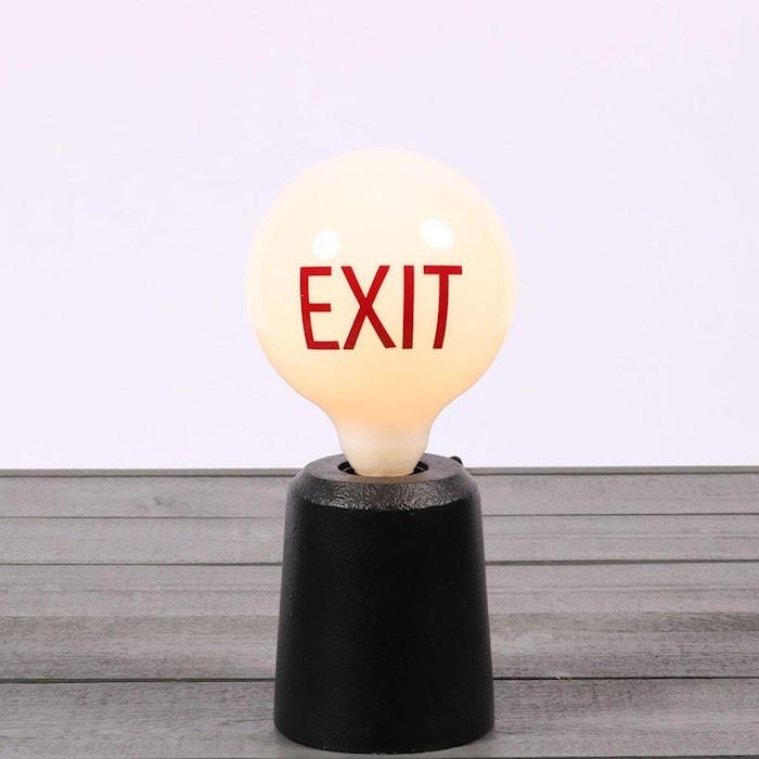 Sticker Words Red Exit