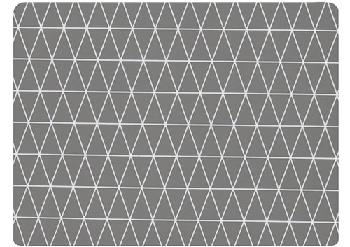 Dækkeserviet - Gummi - Mørkegrå - H 0,5cm - L 40,0cm - B 30,0cm