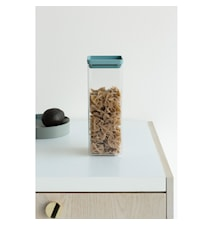 Firkantet Oppbevaringsboks 2,5 L Transparant / Mint lokk