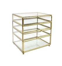 brass glass drawer