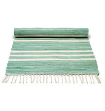 Cotton matta - Pale green/offwhite striped