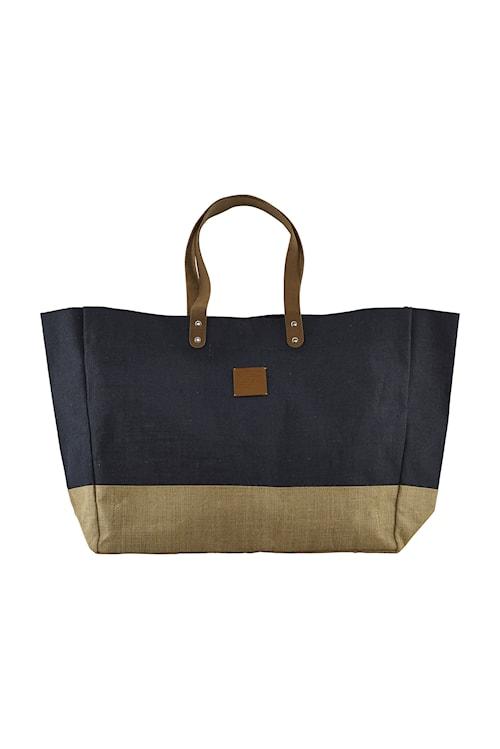 Shopping bag, Carrie, Blue, 53.5x16.5x38 cm