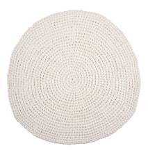 Crochet Matta Vit Ø80 cm