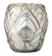 Värmeljuslykta Dalia 7,5 cm Silver