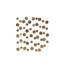 Girlang Dot 500 cm - Guld