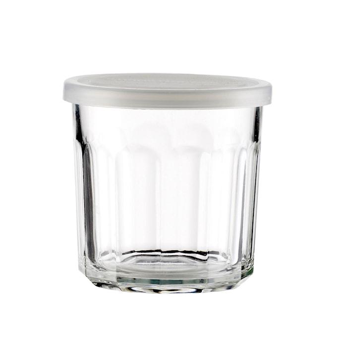 Glass m/lokk Klar Glass 9x9cm