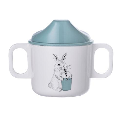 Barnmugg Kanin - Blå