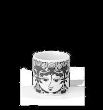 Lysestage, Linette, grå, H 6 cm, cylinder