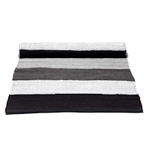Cotton matta - Black/grey/white striped