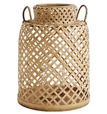 Bamboo lantern w/handles, L
