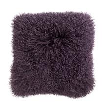 Tyynynpäällinen Lampaannahkaa 40x40 cm - Violetti