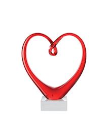 Heart Skulptur Röd