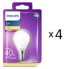 LED E14 Klot 40W Frost 4st
