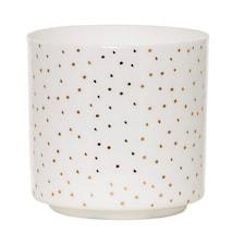 Kynttilälyhty Valkoinen Posliini 7x7 cm