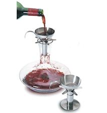 Dekantör i rostfritt stål för luftning av vin
