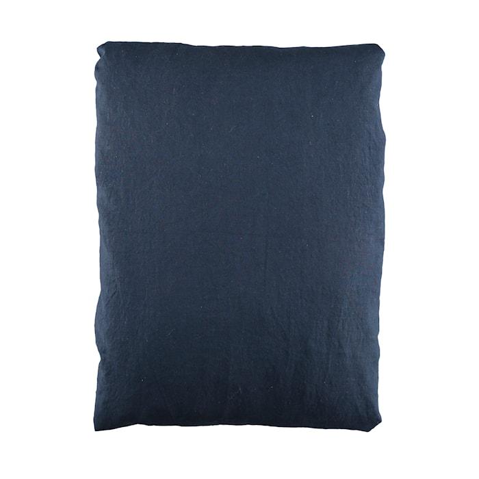 Påslakan linne 150x210cm Mörkblå