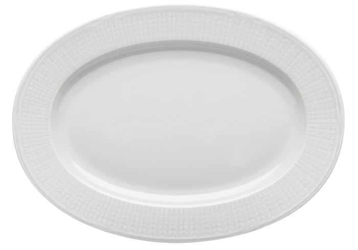Swedish grace, snö Fat oval 32 cm
