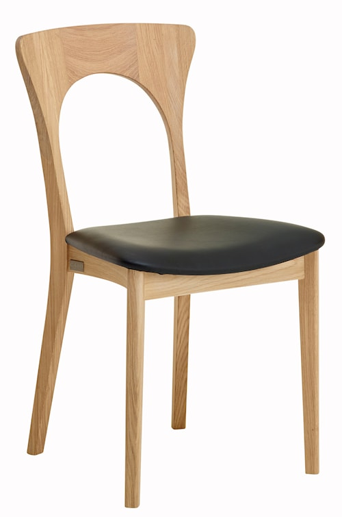 Peter stol - Oljad ek, lädersits
