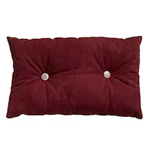BUTTON cushion, wine red w/filling