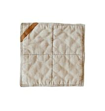 Grydelap , 25x25 cm, beige