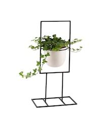 Blomställning Svart Smide Vit Kruka 50cm