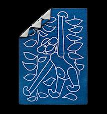 Tæppe, blå